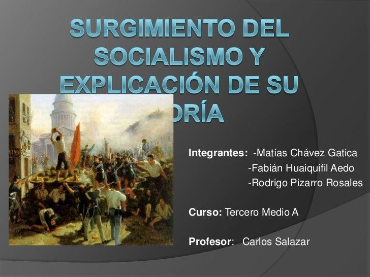 Integrantes: -Matías Chávez Gatica            -Fabián Huaiquifil Aedo            -Rodrigo Pizarro RosalesCurso: Tercero Me...