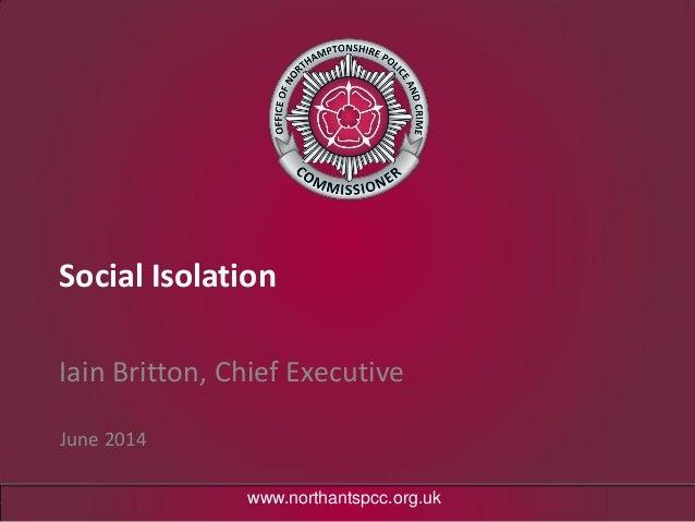 Social isolation ib pcc