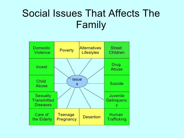 Social Issues That Affects The Family Alternatives Lifestyles Poverty Child  Abuse Desertion Teenage  Pregnancy Street  Ch...