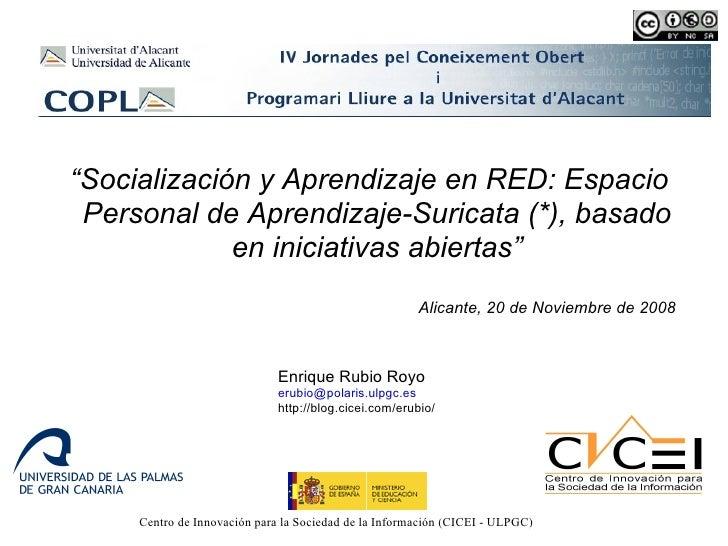 Socialización y Aprendizaje en RED Autogestionado