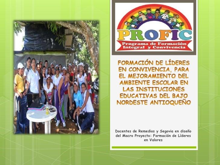 FORMACIÓN DE LÍDERES EN CONVIVENCIA, PARA EL MEJORAMIENTO DEL AMBIENTE ESCOLAR EN LAS INSTITUCIONES EDUCATIVAS DEL BAJO NO...