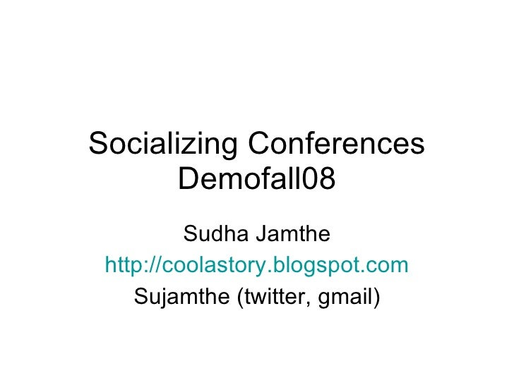 Socializing Conference - Demofall