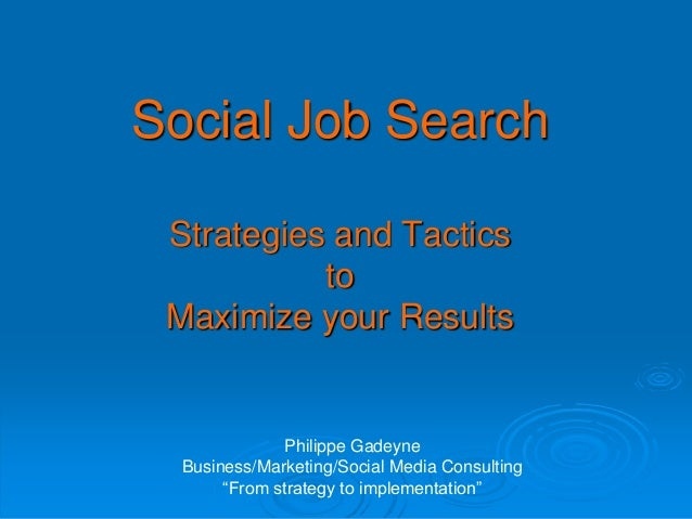 Social job search updated 04 2014