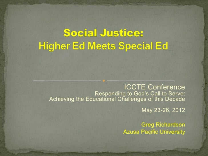 Social justice he meets sped