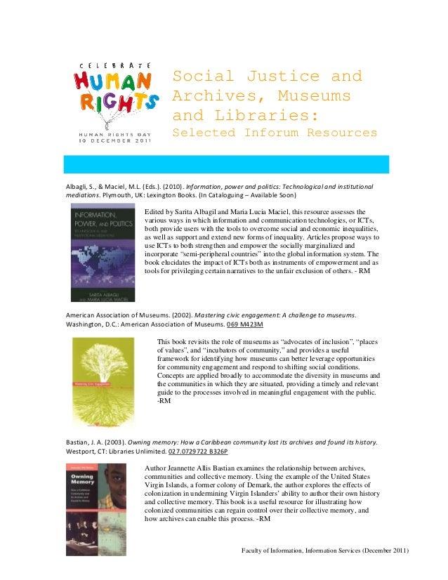 Social Justice in LAM Bibliography 2011