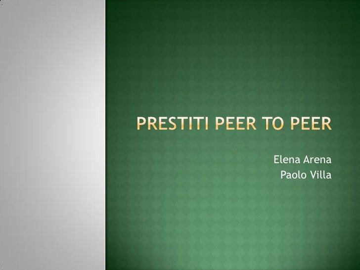 prestiti peer-to-peer
