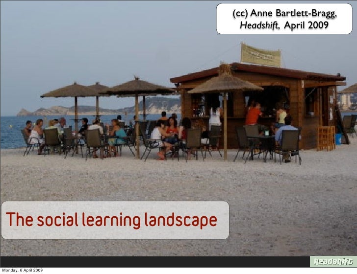 (cc) Anne Bartlett-Bragg,                                    Headshift, April 2009      The social learning landscape  Mon...