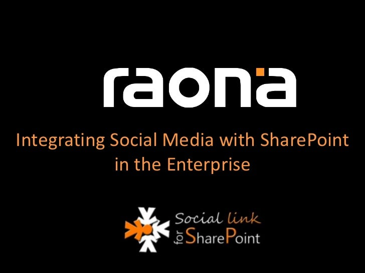 Integrating Social Media with SharePoint in the Enterprise<br />