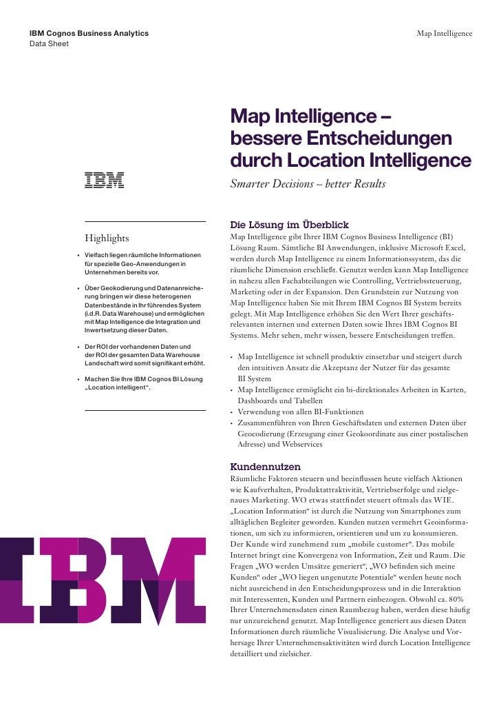 IBM Cognos Business Analytics                                                                                        Map I...