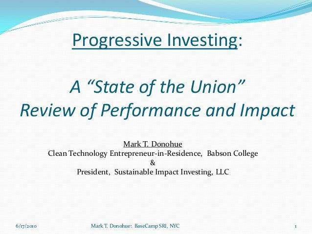 Socially Responsible Investing Keynote