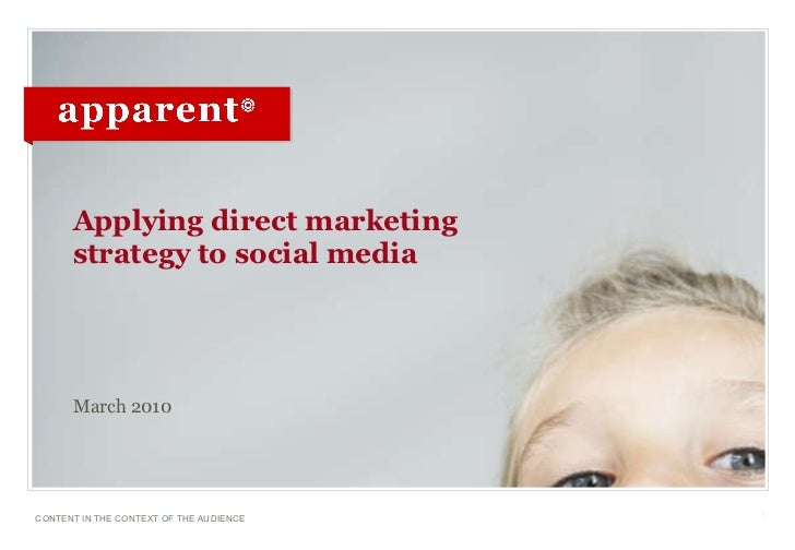 Applying direct marketing strategy to social media <ul><li>March 2010 </li></ul>