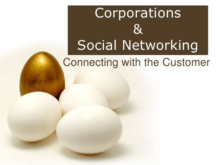 Corporations <br />& <br />Social Networking<br />Connecting with the Customer<br />
