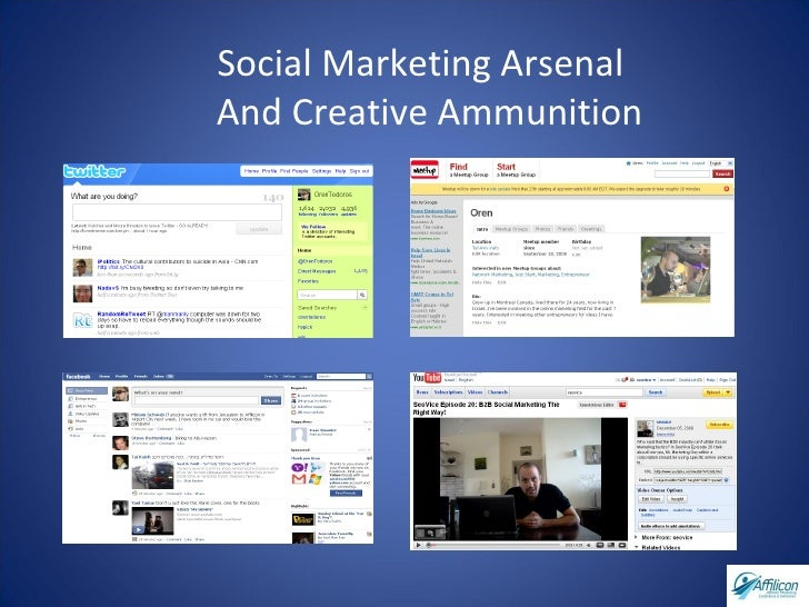 Social Marketing Arsenal  And Creative Ammunition