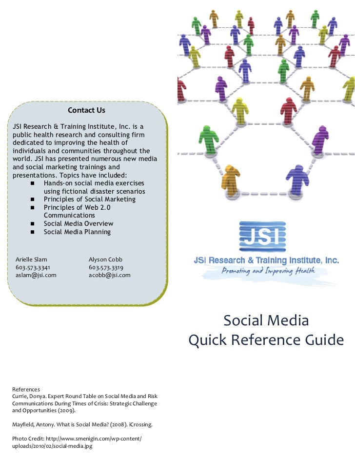 JSI Social Media Definitions Quick Reference
