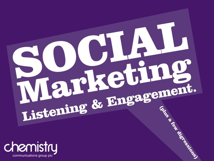 Social Marketing, Listening and Engagement
