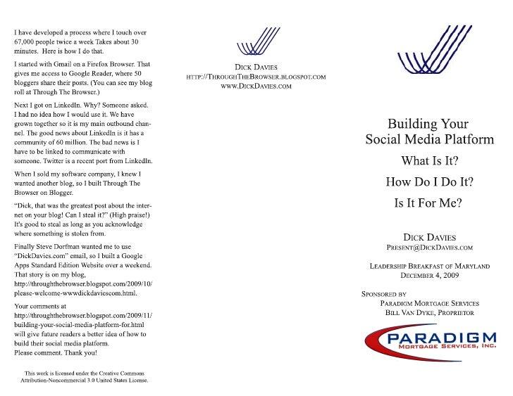 Social Marketing Platform 11 24 9