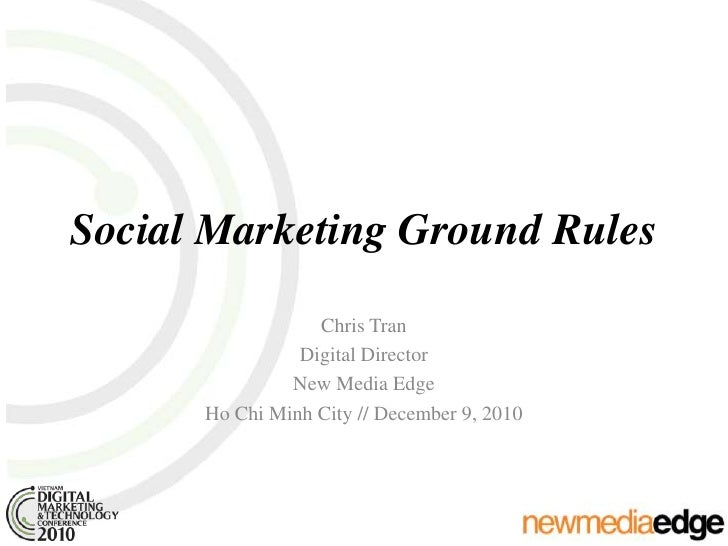 Social Marketing Ground Rules