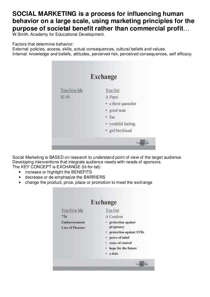 Social marketing summary