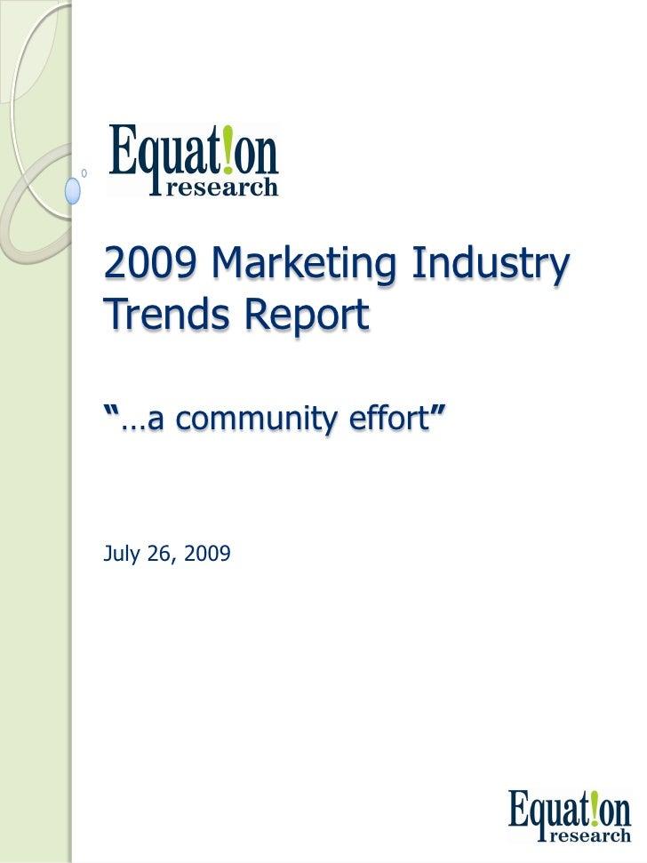 Social Market Trends Study
