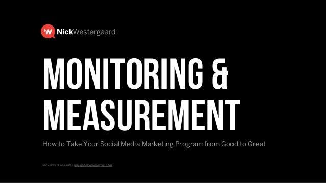 nick westergaard | branddrivendigital.com | 2015 BRAND DRIVEN digital Social Media Monitoring and Measurement The Secret t...
