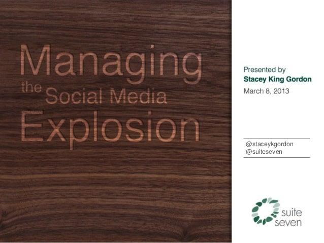 Managing the Social Media Explosion