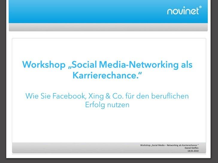 Social Media – Networking als Karrierechance