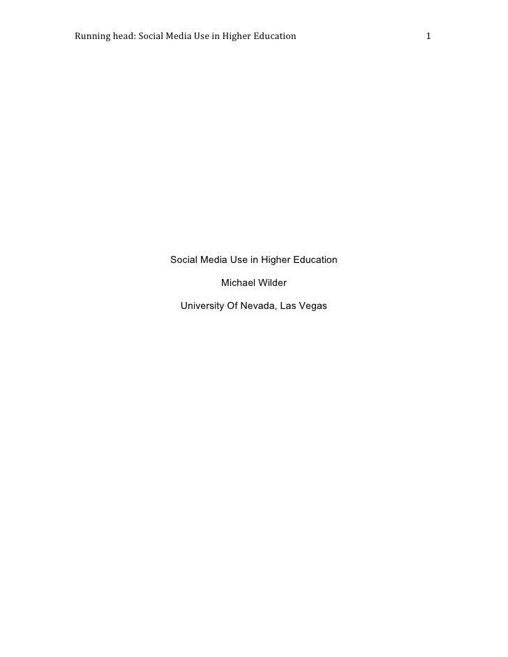 Runninghead:SocialMediaUseinHigherEducation1          ...