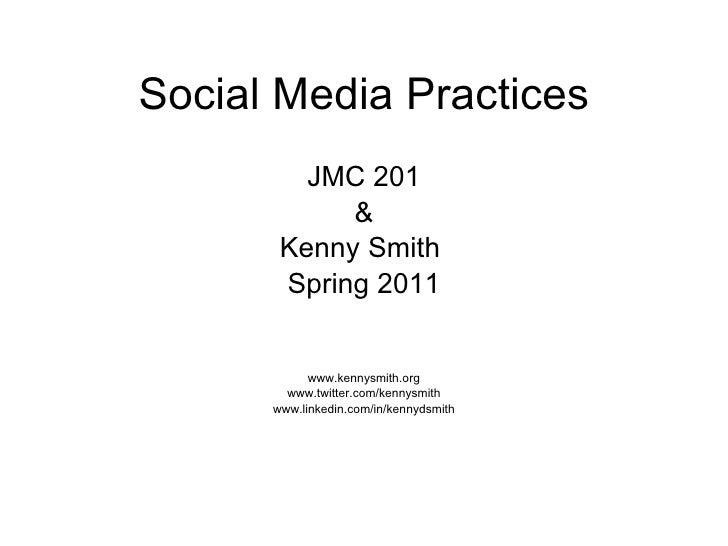 Social media 201 presentation