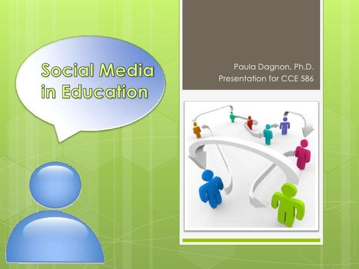 Social Media CCE 586