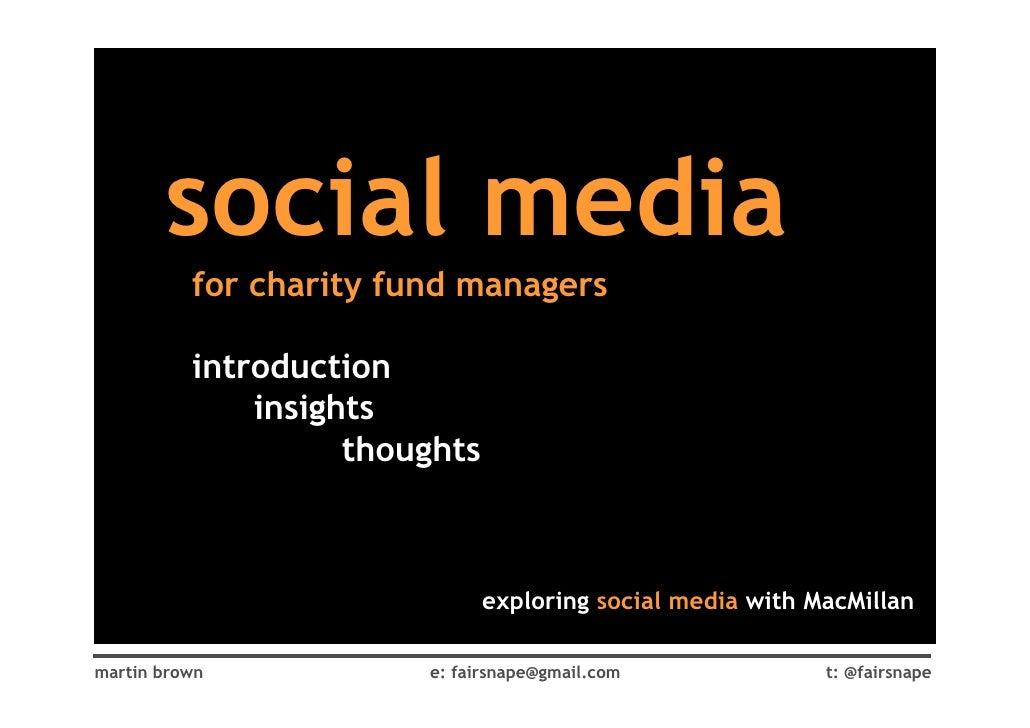 social media           for charity fund managers            introduction               insights                     though...