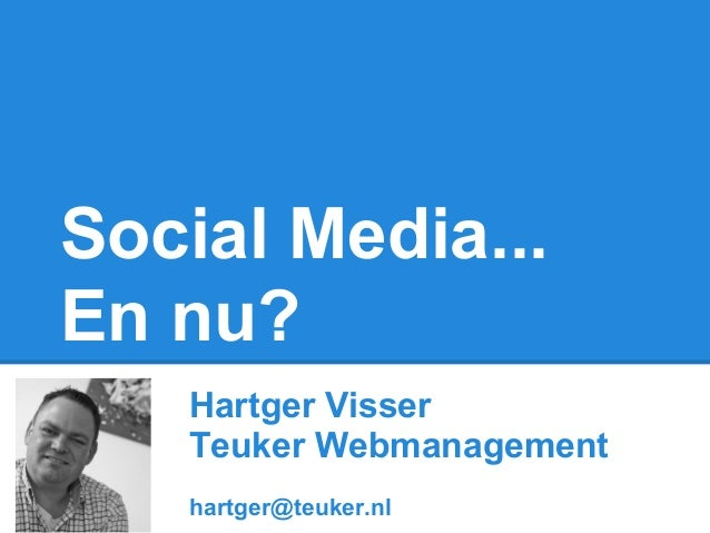 Social media...  en nu  goolse zaken 19 feb 2013
