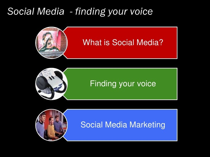 Social Media   Finding Your Voice