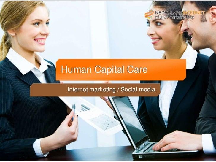 Titelblad Introductie              Human     Capital Care              Internet marketing / Social media
