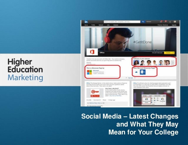 Social media   latest changes and what they may mean for your college