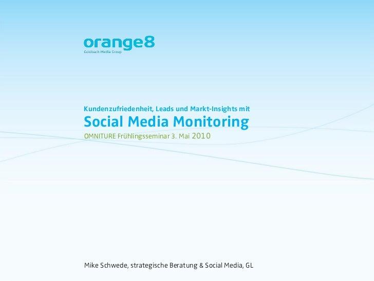 Leads, Conversion, Kundenzufriedenheit mit Social Media Monitoring