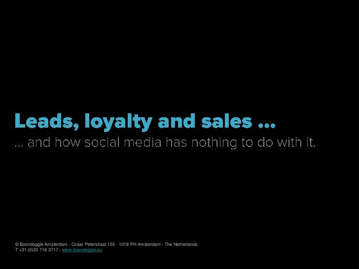 Social media - Leads Loyalty Sales for Stichting Marketing