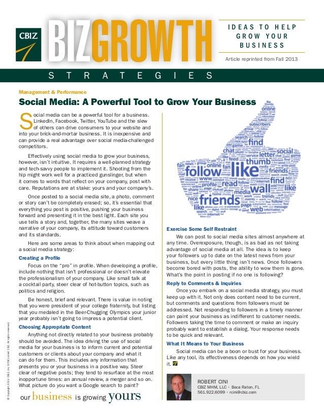 Social Media: A Powerful Tool to Grow Your Business