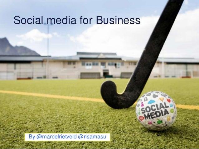 Socialmedia for business presentatie Hockeysocieteit 's-Hertogenbosch