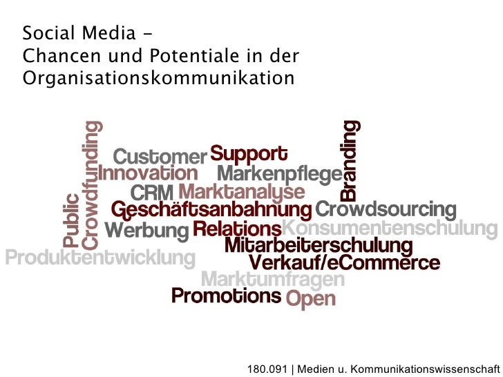 Social Media - Chancen und Potentiale in der Organisationskommunikation                            180.091 | Medien u. Kom...