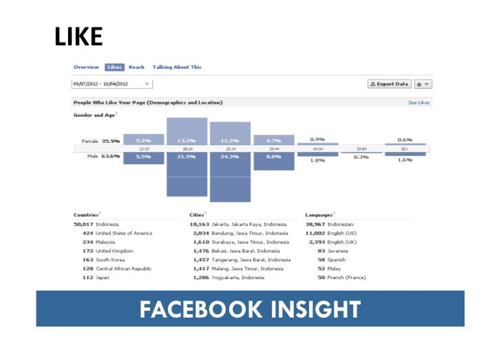 Facebook insight untuk social media tool