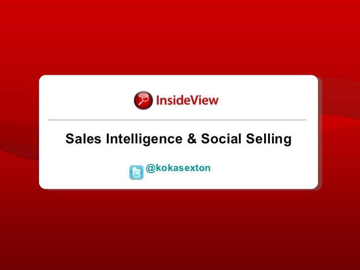 Sales Intelligence and Social Media