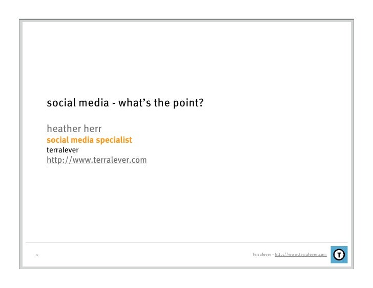 Social Media - What's The Point?