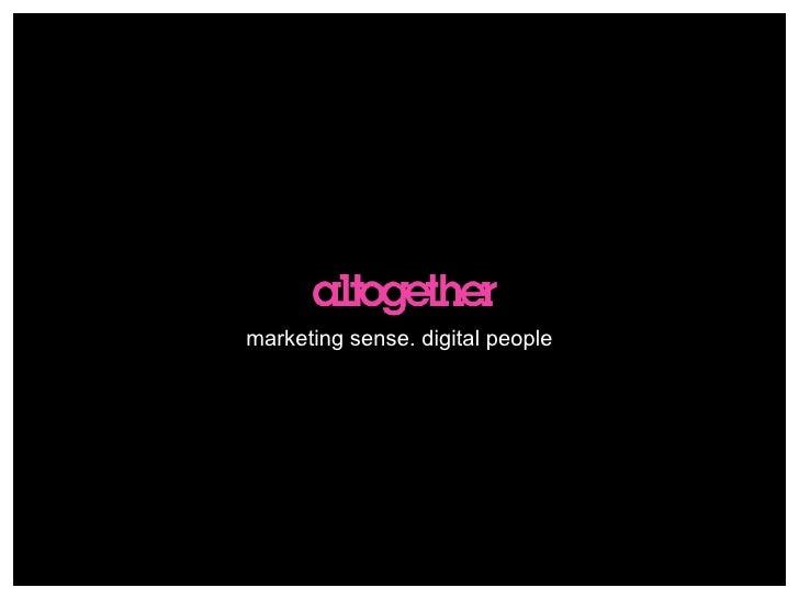 marketing sense. digital people