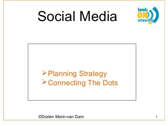Social Media  Planning Strategy  Connecting The Dots©Dorien Morin-van Dam    1