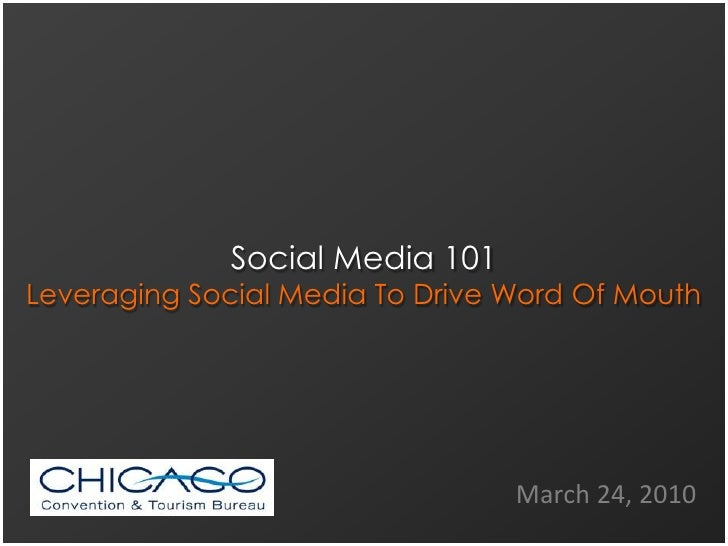 Social Media 101 for the CCTB