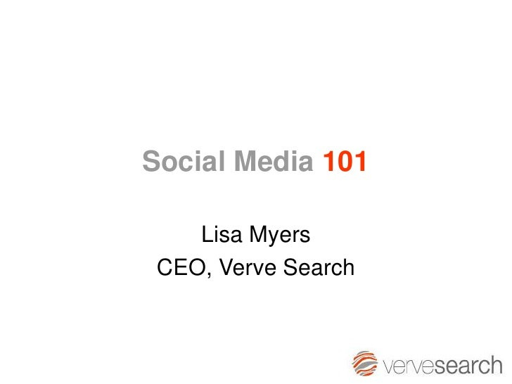 SES London 2010 - Social Media101 (Lisa Myers)