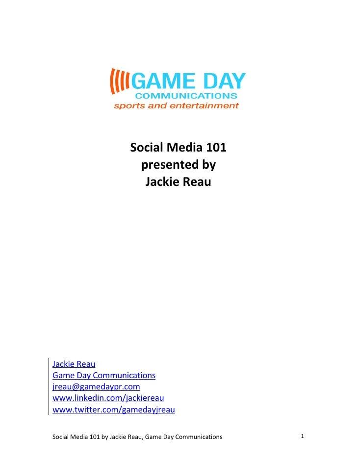 Social Media 101 Manual
