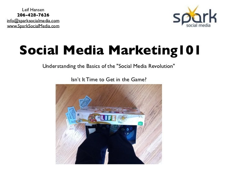 Social Media Marketing 101 -Time to Get in the Game