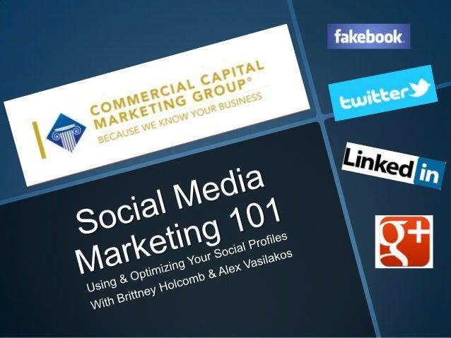 Social Media Marketing 101 Webinar