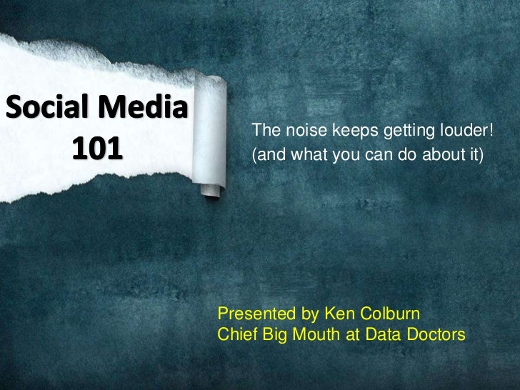 The noise keeps getting louder!    (and what you can do about it)Presented by Ken ColburnChief Big Mouth at Data Doctors